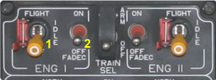 Engine Control Panel der EC 135